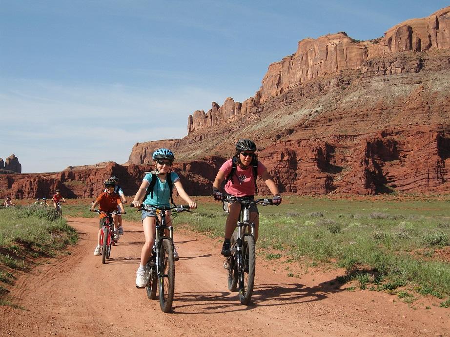 Mountain biking near Moab Utah