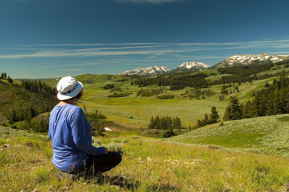 Woman enjoys classic Yellowstone view. (Dreamstime/TNS)