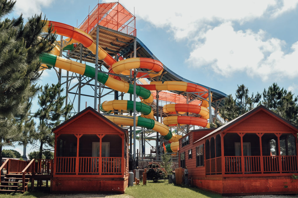 Waterslide at the Yogi Bear's Jellystone Park campground in Burleson TX