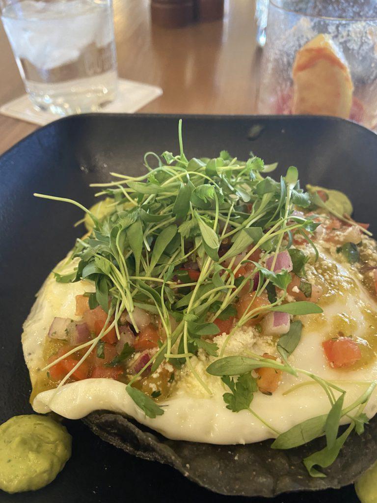 Huevos Rancheros for breakfast Mowry & Cotton Restaurant in The Phoenician Scottsdale