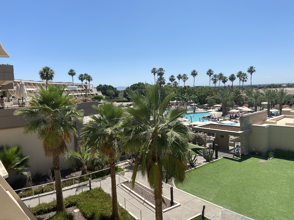 View of the pool area at the Phoenician Scottsdale