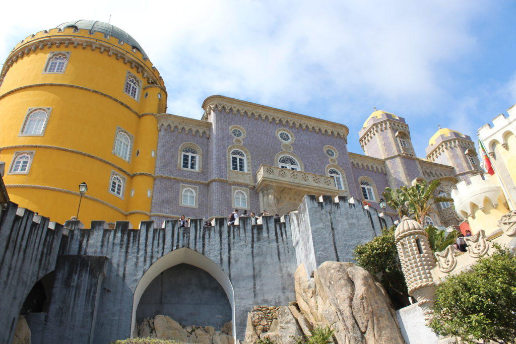 Visitors can stroll along the parapets of the fascinating Palace of Pena