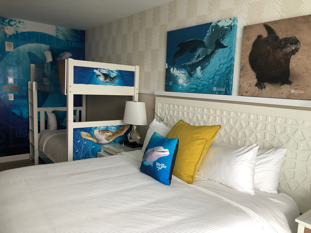 A look at the Dolphin Tale-inspired and family-friendly rooms
