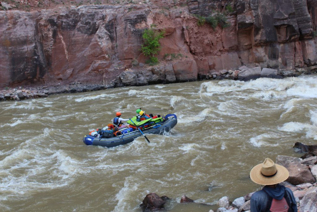 A private raft trip tackling Warm Springs, the baddest rapids on the Yampa at class 4