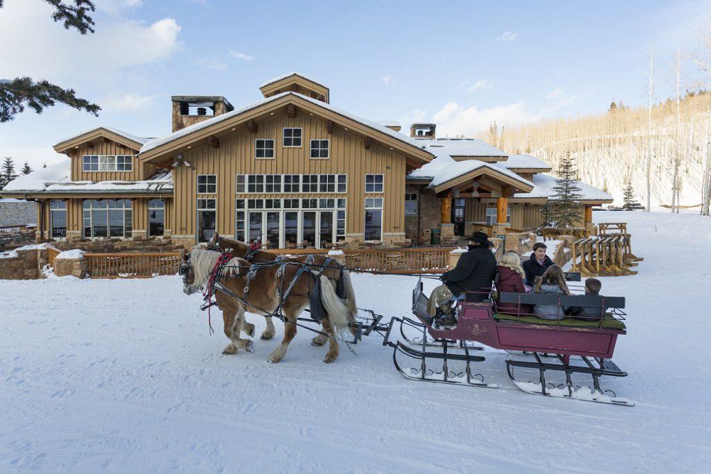 A sleigh ride at Deer Valley Resort