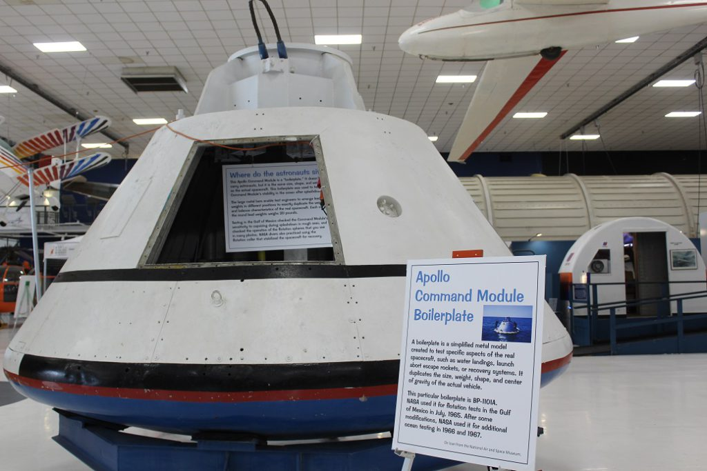 A very early boilerplate that was used for testing the design of the Apollo command modules