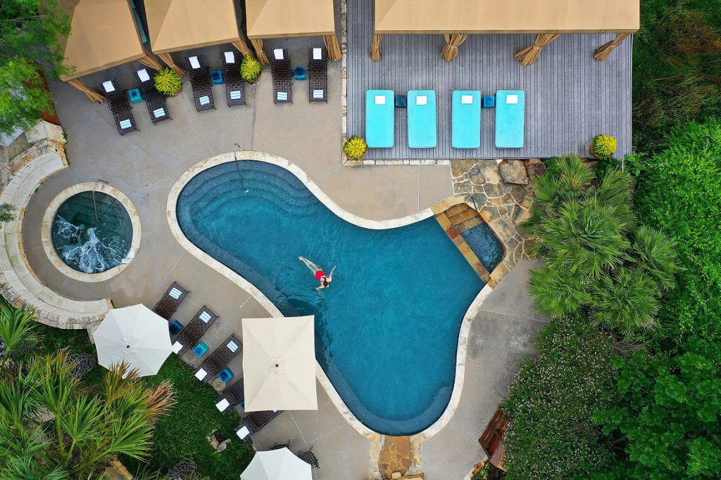 Pool area at Lake Austin Spa