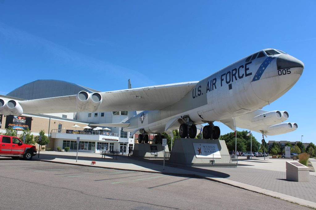 B-52 Stratofortress at entrance to Wings Over The Rockies Air and Space Museum