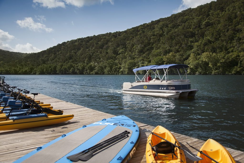 Boat Cruises to and from the Lake Austin Spa