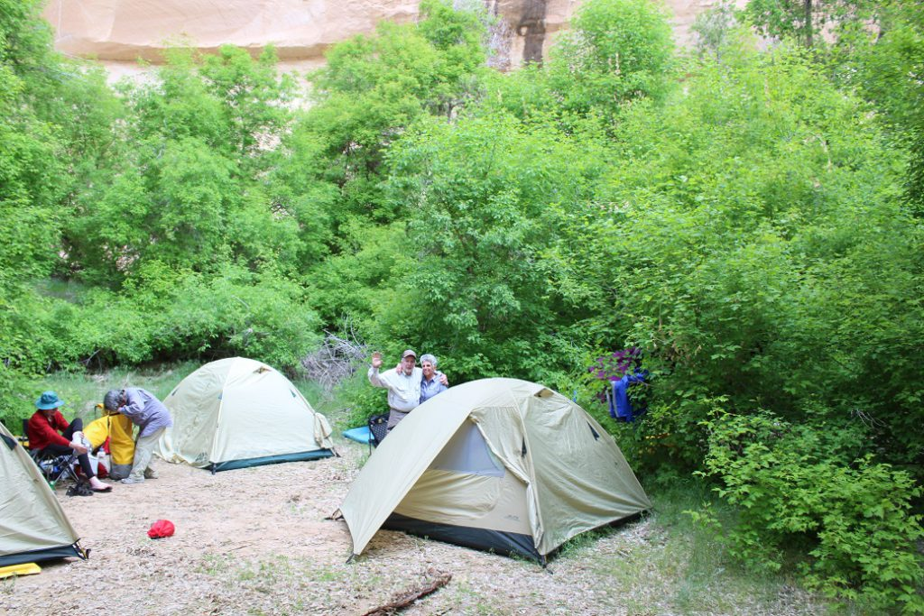 Campsite on the second night was on the beach under a 500-foot sheer cliff