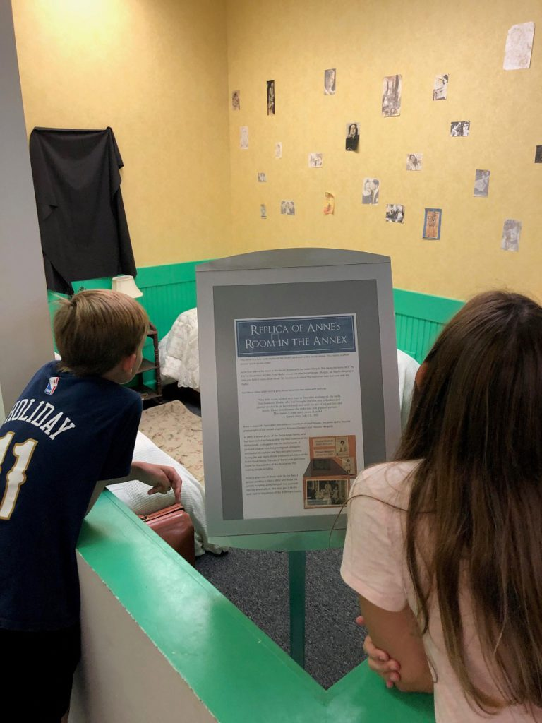 Checking out the Anne Frank exhibit
