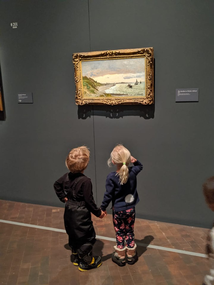 Children in the Claude Monet The Truth of Nature exhibition
