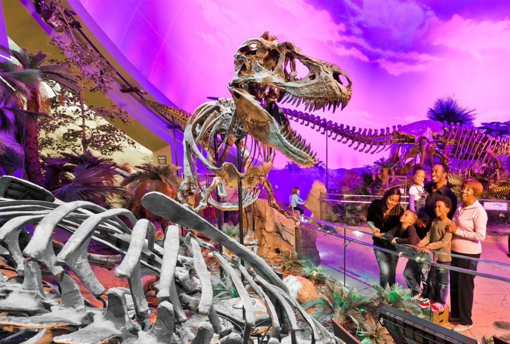 Dinosphere family at Children's Museum of Indianpolis