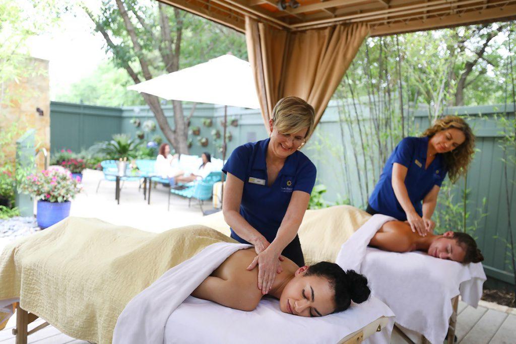 Dual massage at the Lake Austin Spa