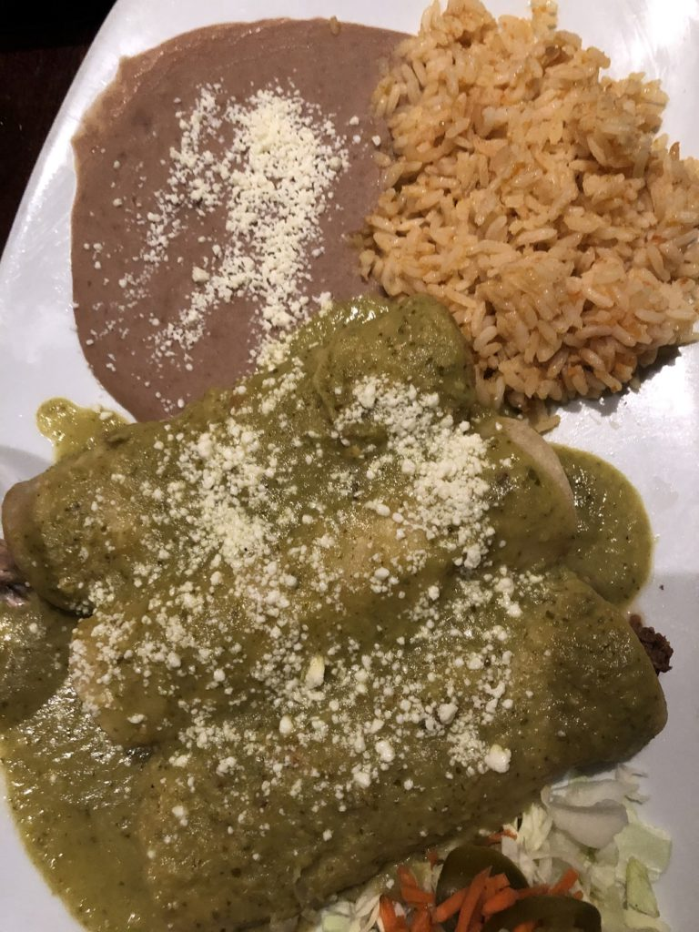 Enchiladas at el Sabor