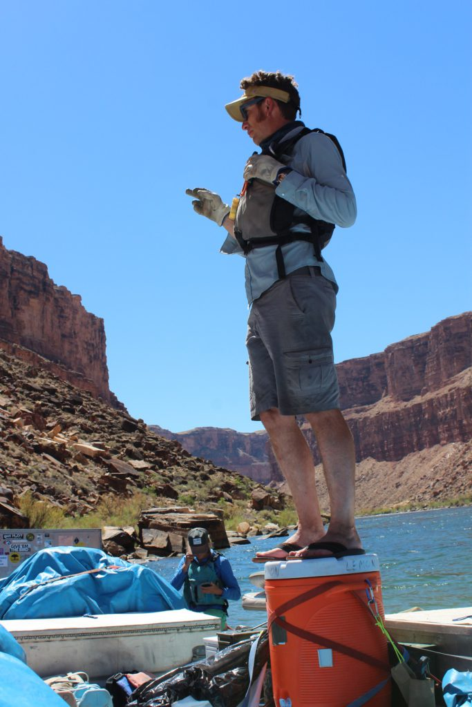 Expedition leader Ben Bressler explains the geology and history of the Grand Canyon