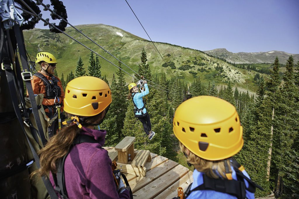Epic Discovery zipline at Breckenridge, CO.