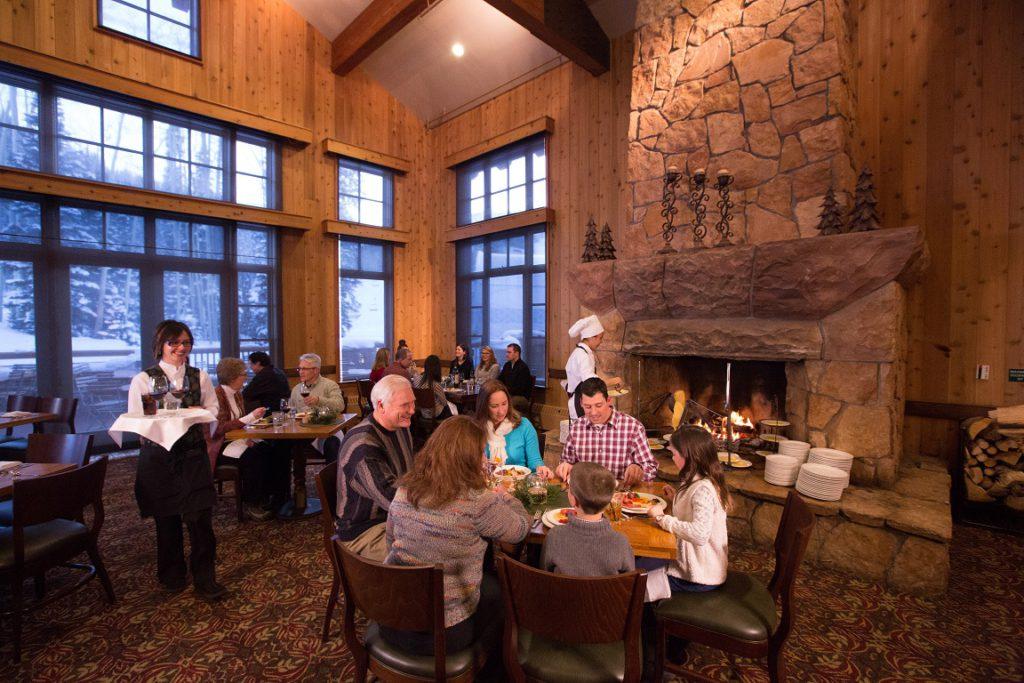 Family dining at Deer Valley Resort