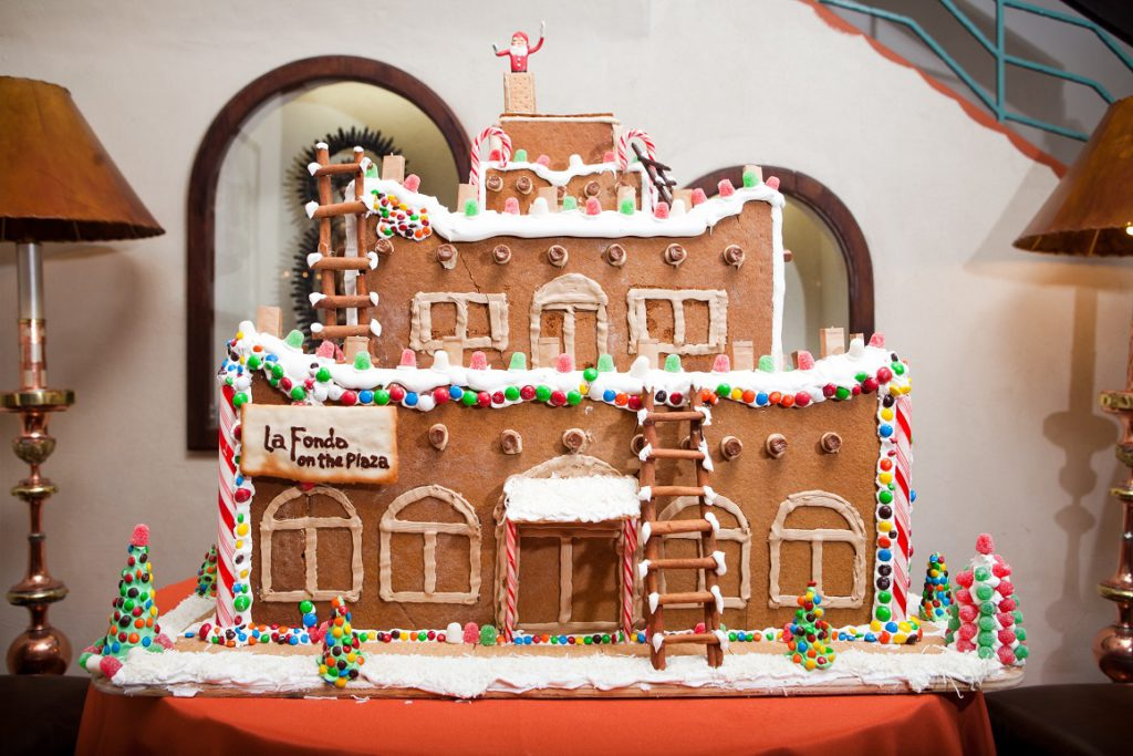 La Fonda on the Plaza Gingerbread House for the holidays
