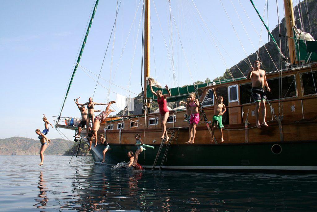 Gulet-jumping in Turkey