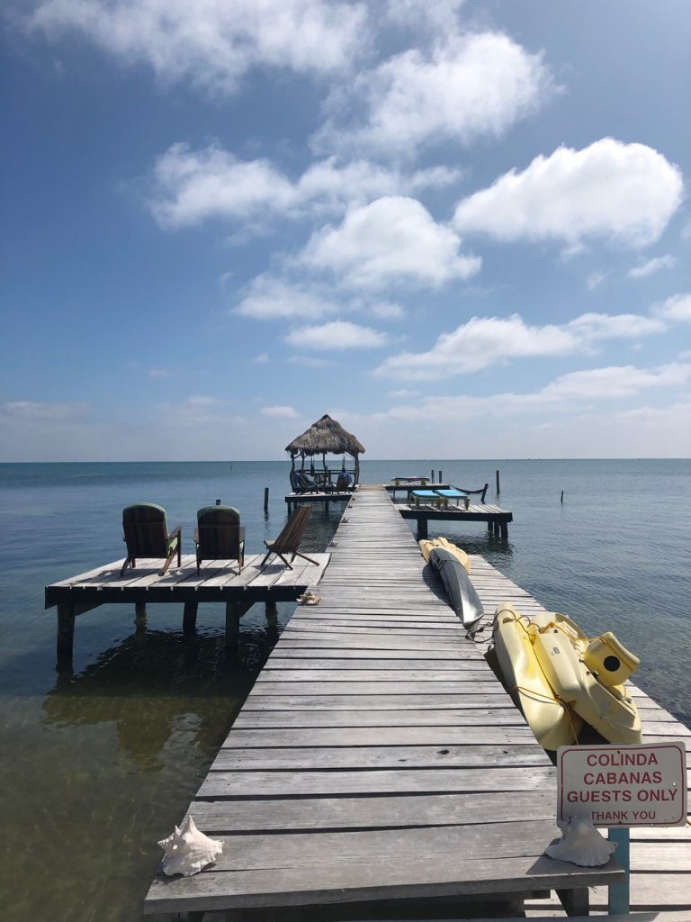 Dock near our cabana in Belize