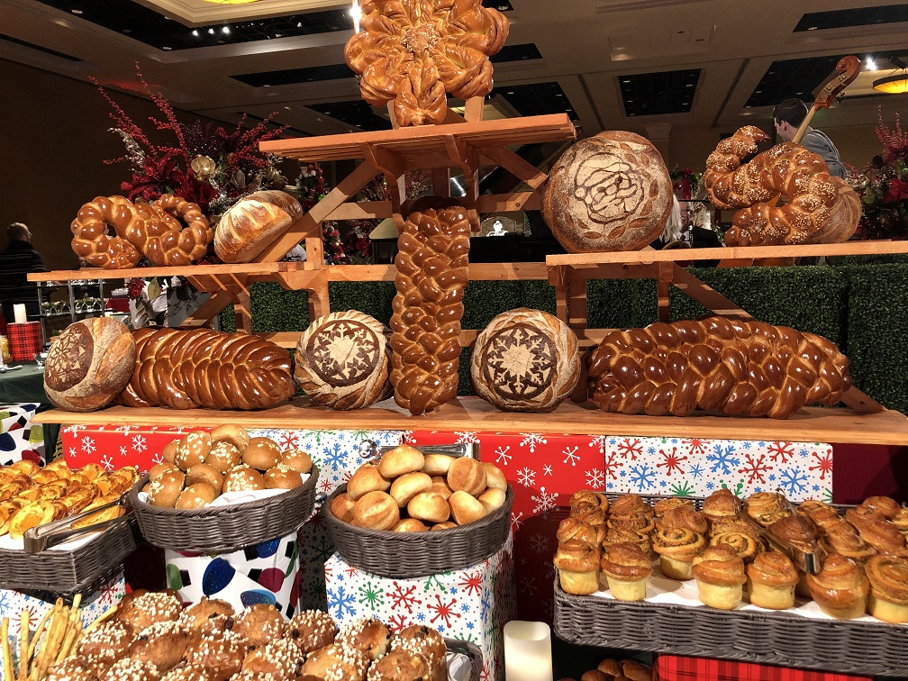 Breads and sweets at Broadmoor Christmas Brunch