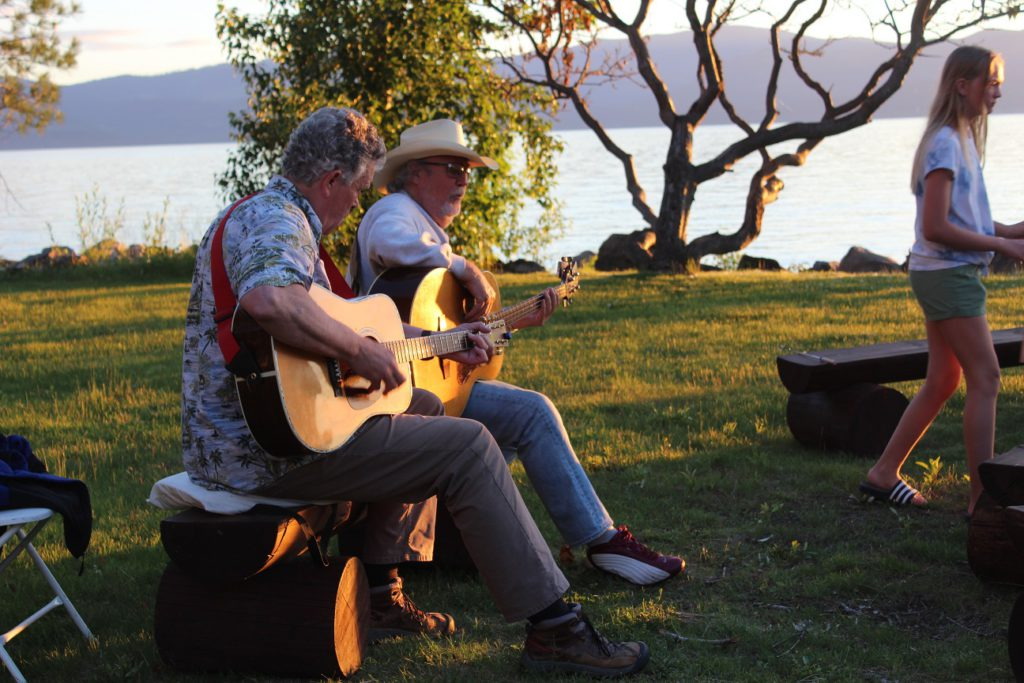 Highly acclaimed troubadors perform mostly hokey songs at Flathead Lake Lodge