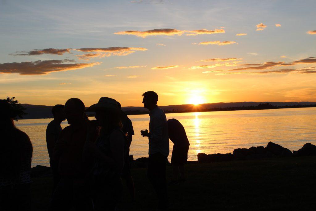 Sunset music and smores at Flathead Lake Lodge
