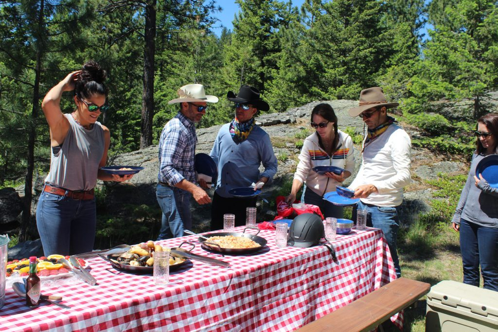 Trailside lunch is served