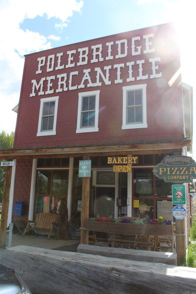 The historic general store in Polebridge, near Kintla Lake
