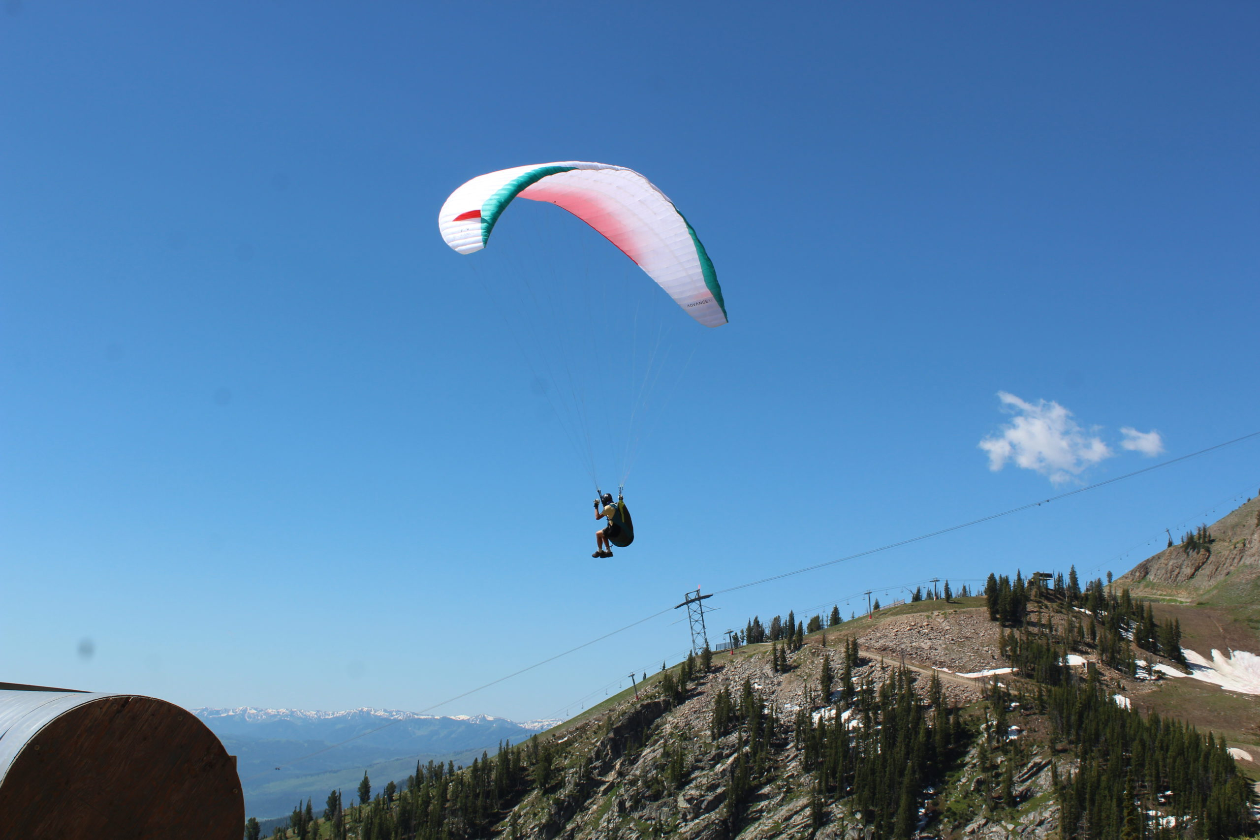 Hang Gliding from top of the gondola at Jackson Hole Mountain Resort