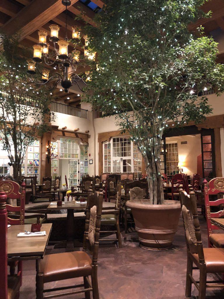 Dining room at La Fonda on the Plaza in Santa Fe NM