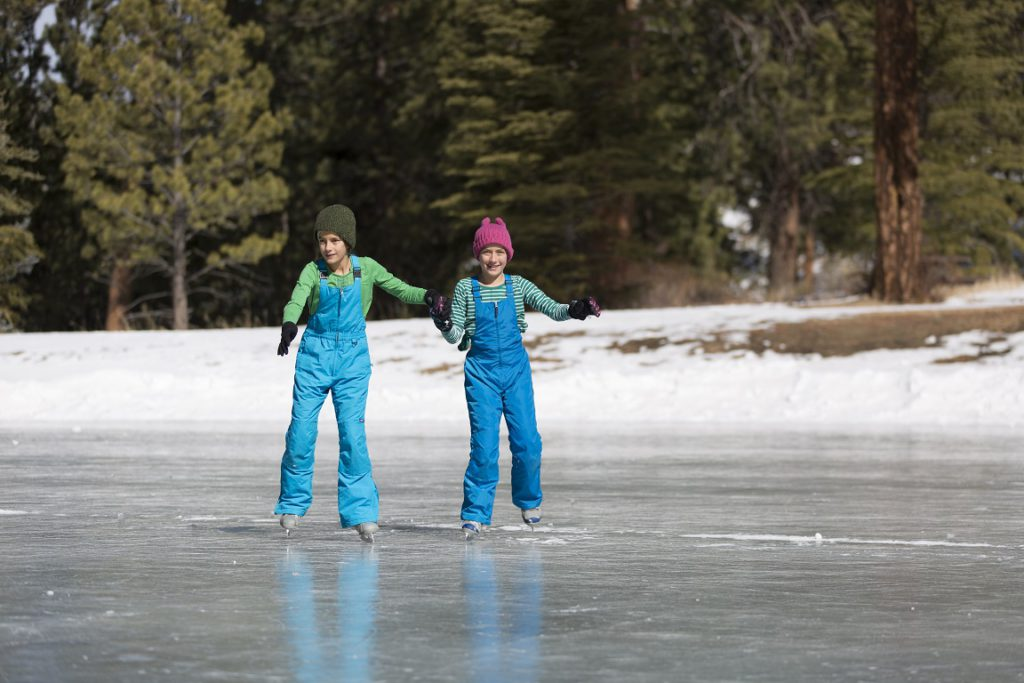 Ice skating at YMCA of the Rockies