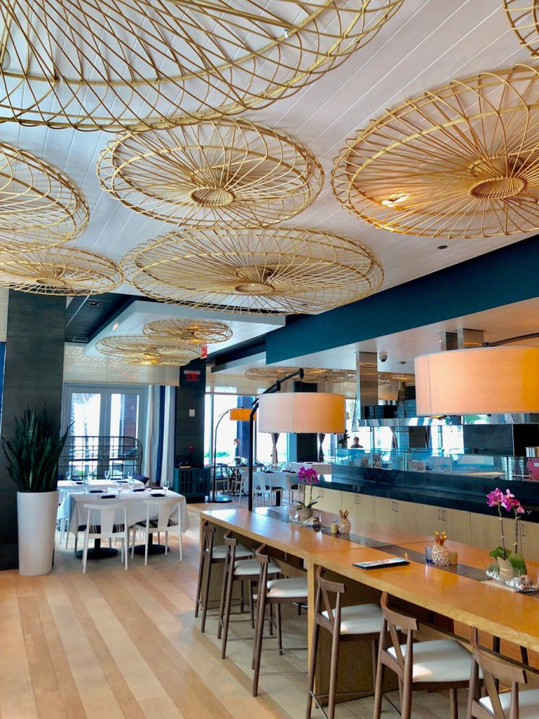 Inside the chic Ocean Hai restaurant