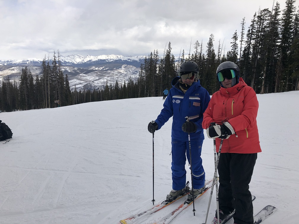 Instructor Lori Leary and Eileen at Beaver Creek