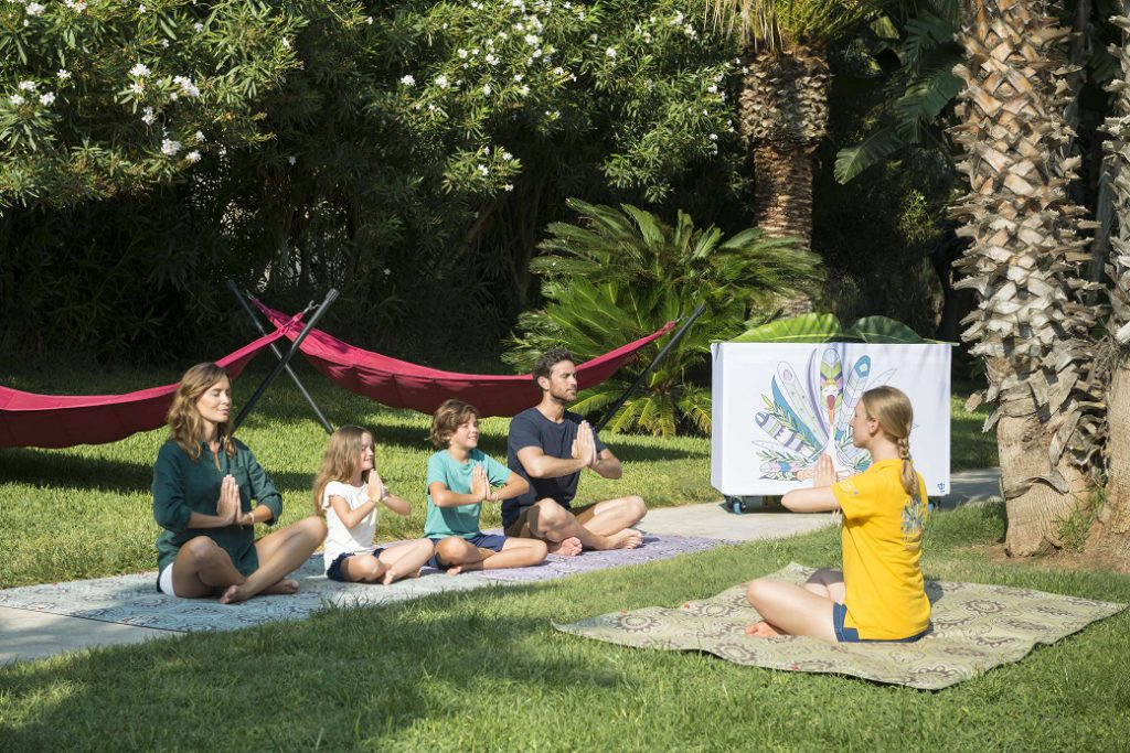 Family yoga lessons at Club Med