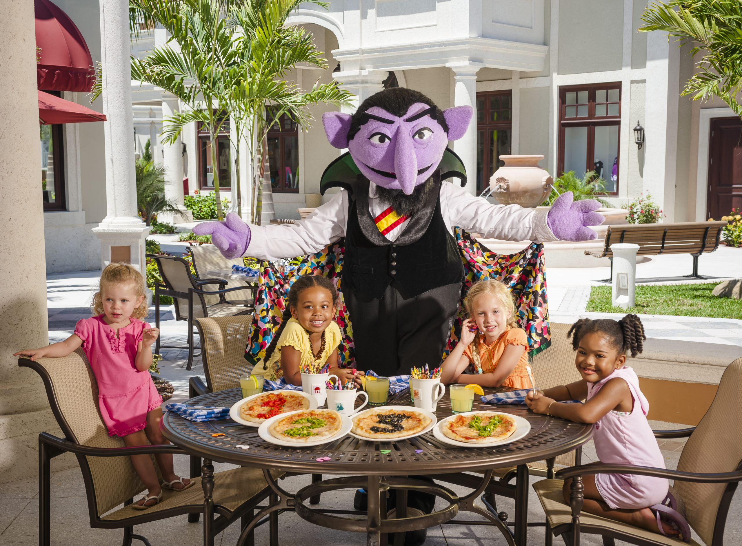 Kids enjoying a pizza party at Beaches Resort