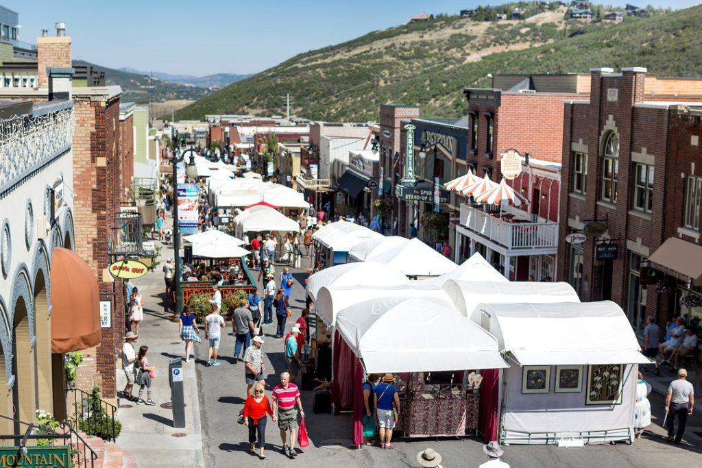 Kimball Arts Festival looking down Main Street