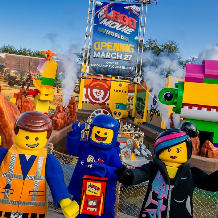 """LEGOLAND Florida Resort is opening """"The LEGO MOVIE World"""" land on March 27 with three new rides, eateries and themed rooms at the LEGOLAND Hotel (Courtesy LEGOLAND)"""