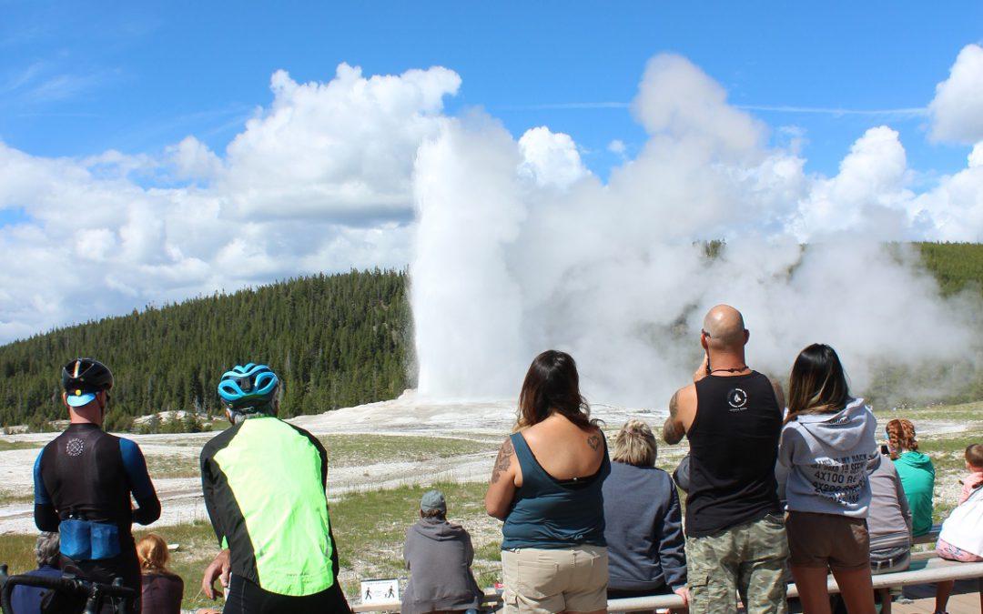 Big Geyser, Little Geyser – social distancing at Yellowstone NP