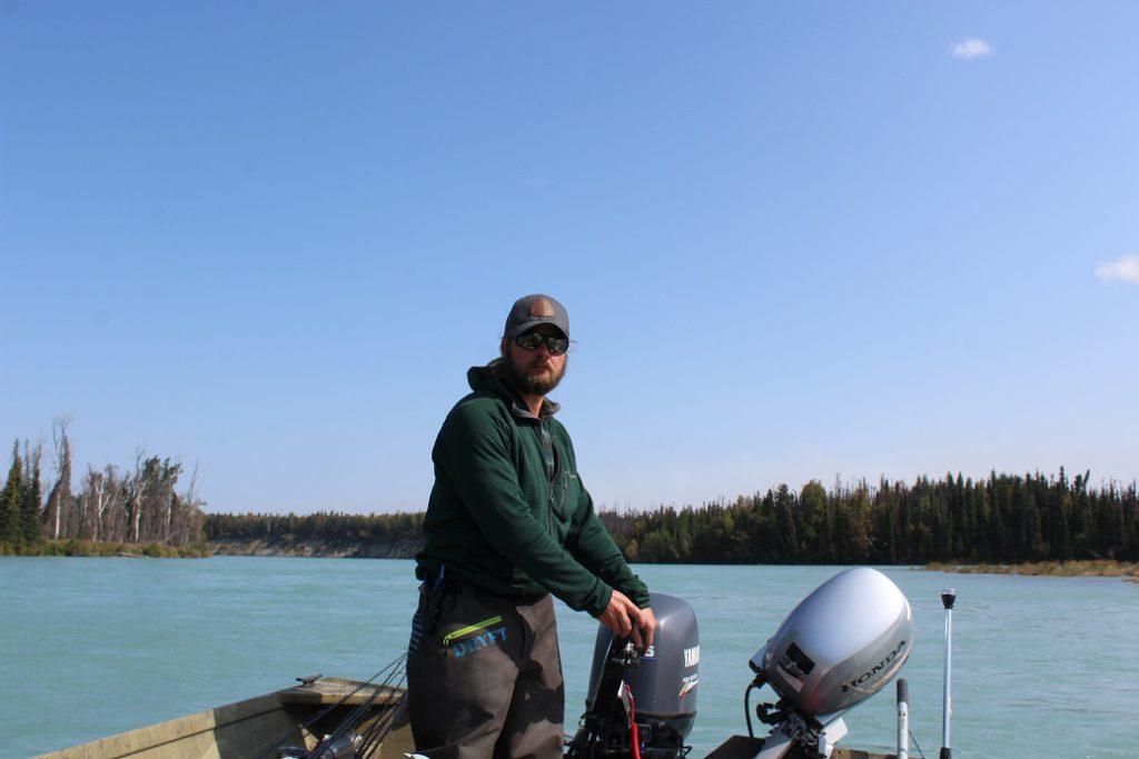 Our guide Sean Smart on the Kenai River