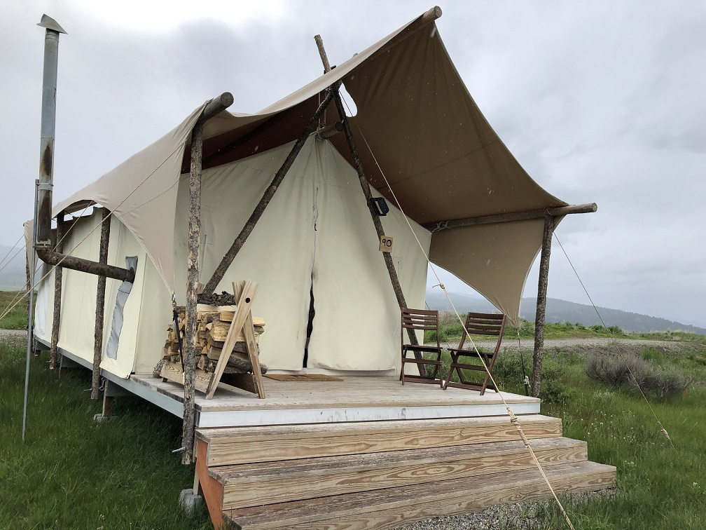 Our tent at the Under Canvas campground near Yellowstone NP