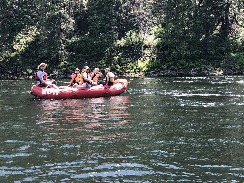 The Casler family on the Selway River in Idaho