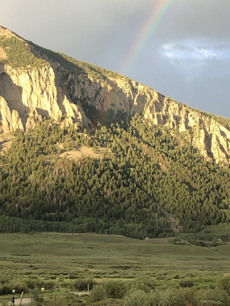 A pot of bitcoin believed to be at the end of this magnificent Crested Butte rainbow