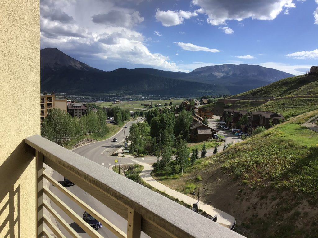 View of the town from the Elevation Hotel on Mt. Crested Butte