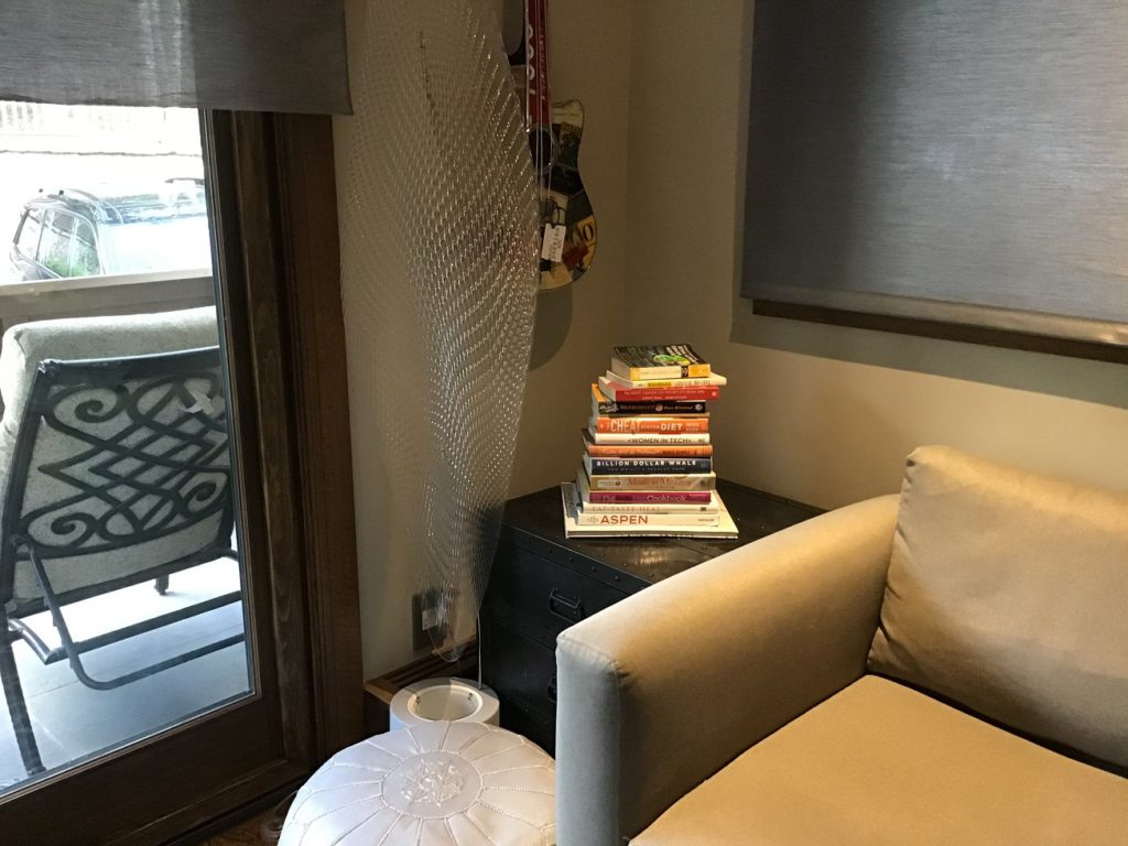 Little Library in each unit in The Gant Aspen - for people who actually read, lol.