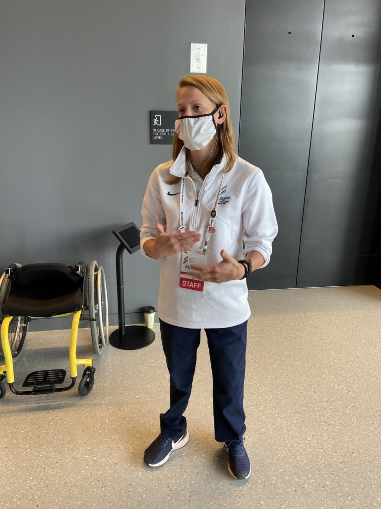 A Paraolympian swimmer works as a docent at the museum in Colorado Springs