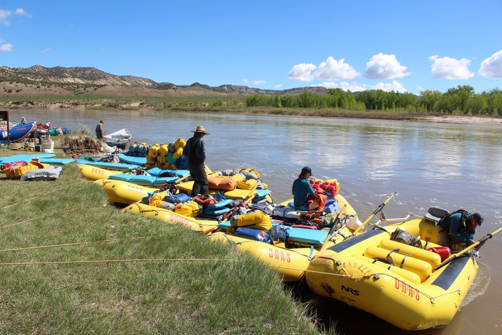 Putting in on the Yampa River in Dinosaur National Monument
