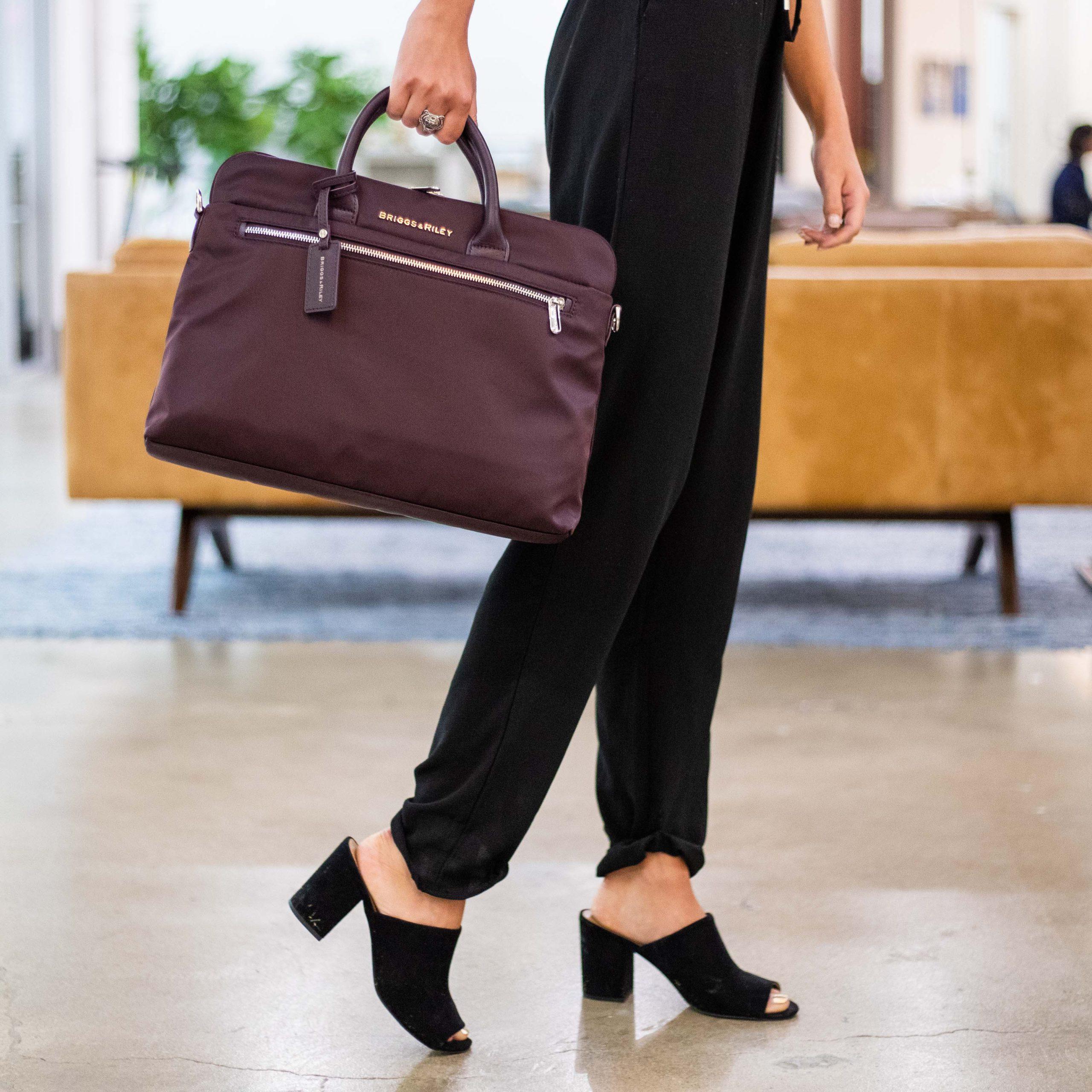Rhapsody plum briefcase