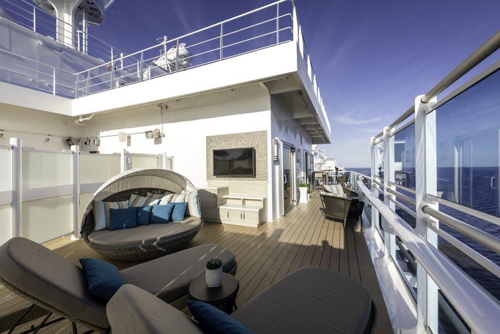 Sky Suites balcony on Princess ship